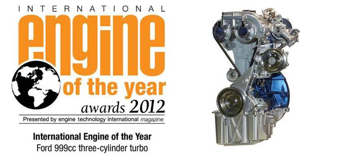 Le moteur Ford 1,0 litre EcoBoost élu moteur de l'année 2012