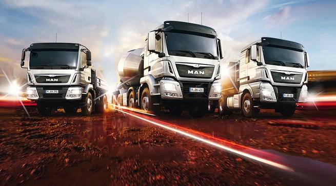 Journées portes ouvertes avec les camions MAN