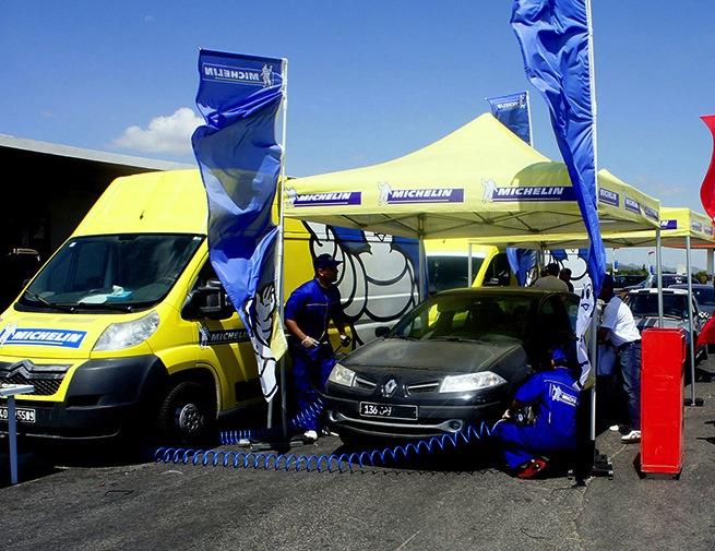 Jomaa et Michelin sensibilisent les automobilistes  sur l'autoroute A1 durant le week-end
