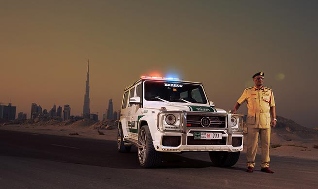La Police de Dubai roule en Classe G Brabus