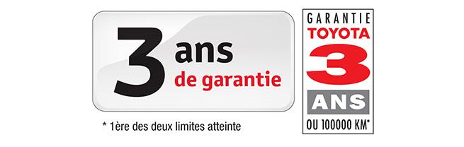 BSB, une garantie de 3 ans pour les voitures Toyota