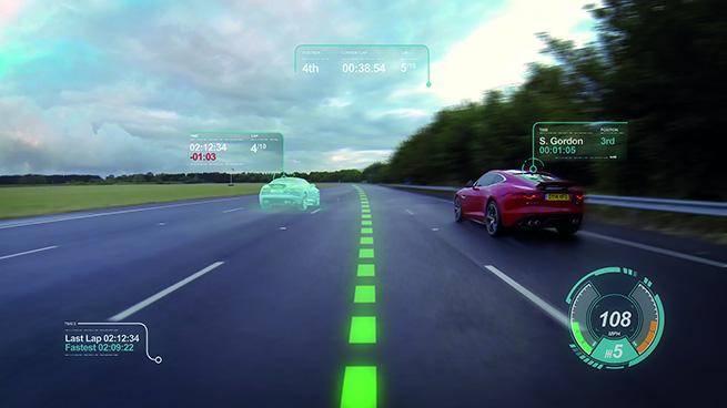 Jaguar développe un pare-brise virtuel