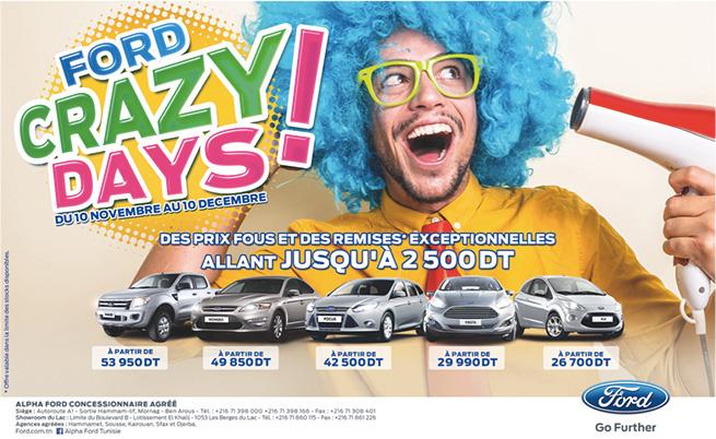 Les Ford Crazy days sont là !