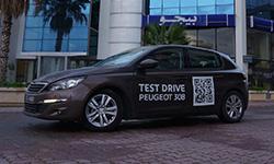 Peugeot Tunisie réinvente le Test Drive et lance un dispositif innovant pour tester la nouvelle Peugeot 308...