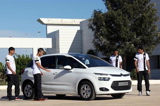 Les joueurs du CSS découvrent Citroën C4 Picasso