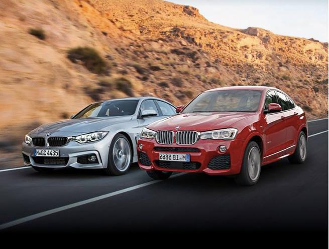 BMW Série 4 Grand Coupé et BMW X4