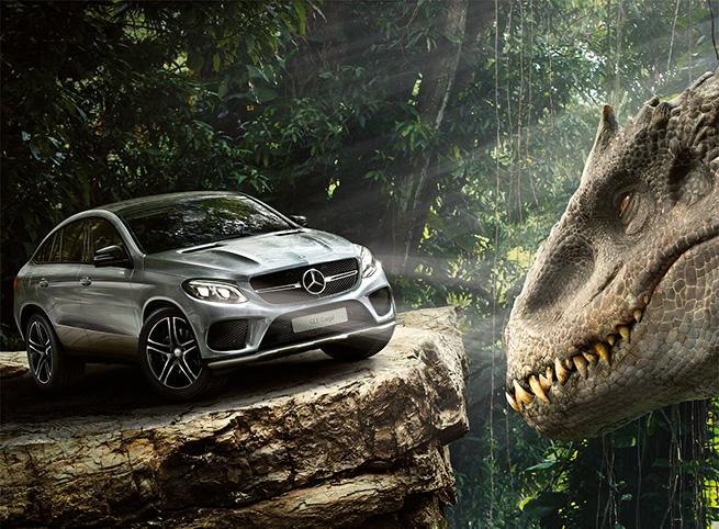 Les véhicules Mercedes-Benz dans Jurassic World
