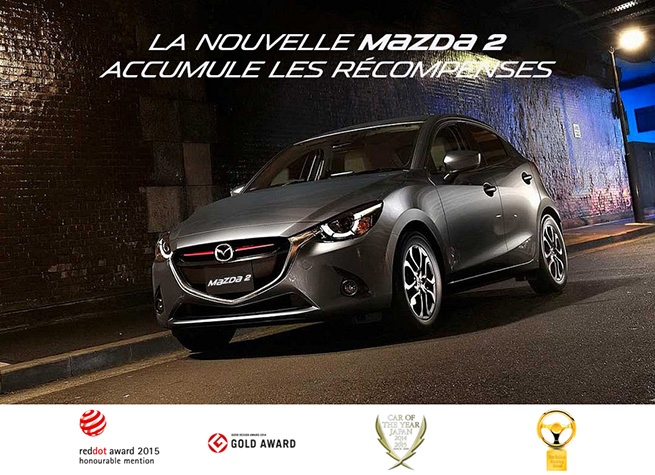 actu la nouvelle mazda2 accumule les r compenses. Black Bedroom Furniture Sets. Home Design Ideas