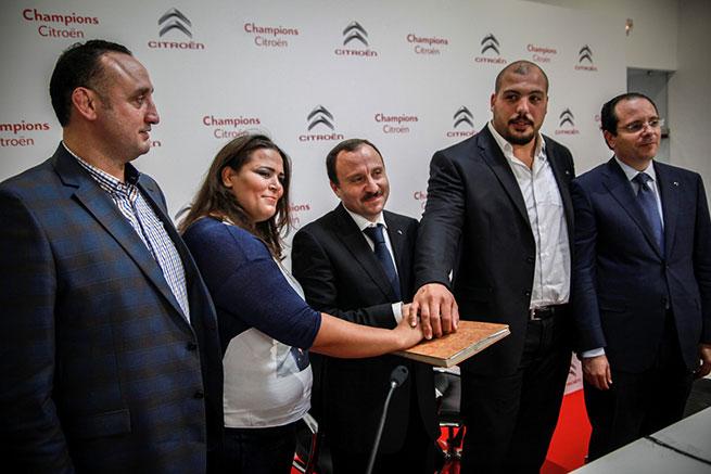 Champions Citroën : Citroën Tunisie partenaire officiel des judokas Fayçel Jeballah et Nihel Cheikhrouhou