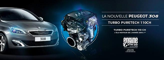 La nouvelle 308 se dote du moteur Puretech 110 ch
