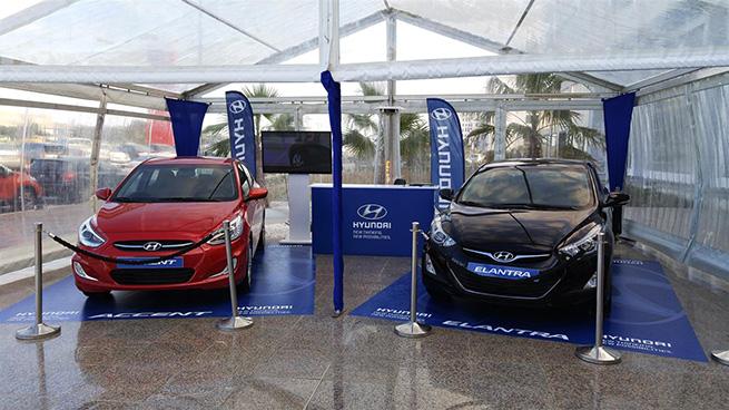 Hyundai expose des véhicules aux Tunisia Mall
