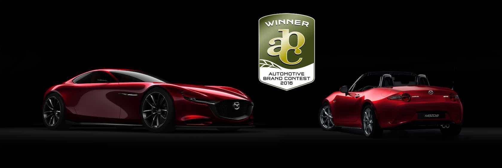 Mazda remporte deux prix au concours Automotive Brand Contest