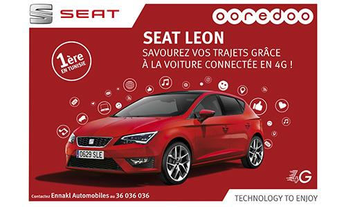 SEAT LEON « La voiture connectée by Ooredoo »