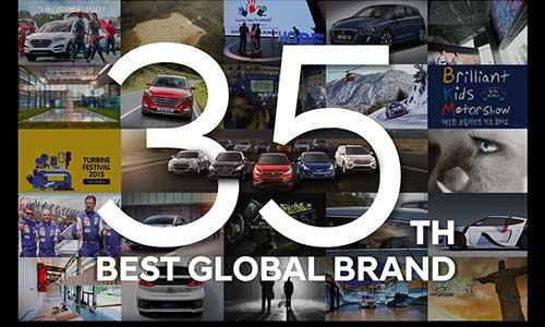 La valeur mondiale de la marque Hyundai Motor continue à croître