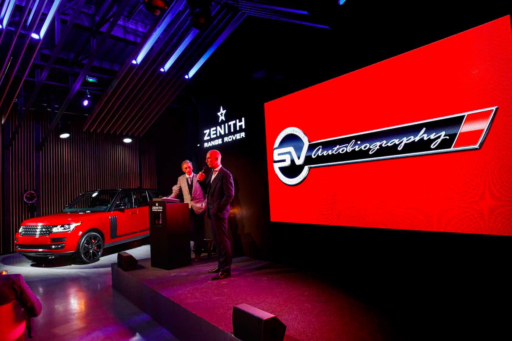 Range Rover SVAutobiography et Zenith El Primero Chronograph
