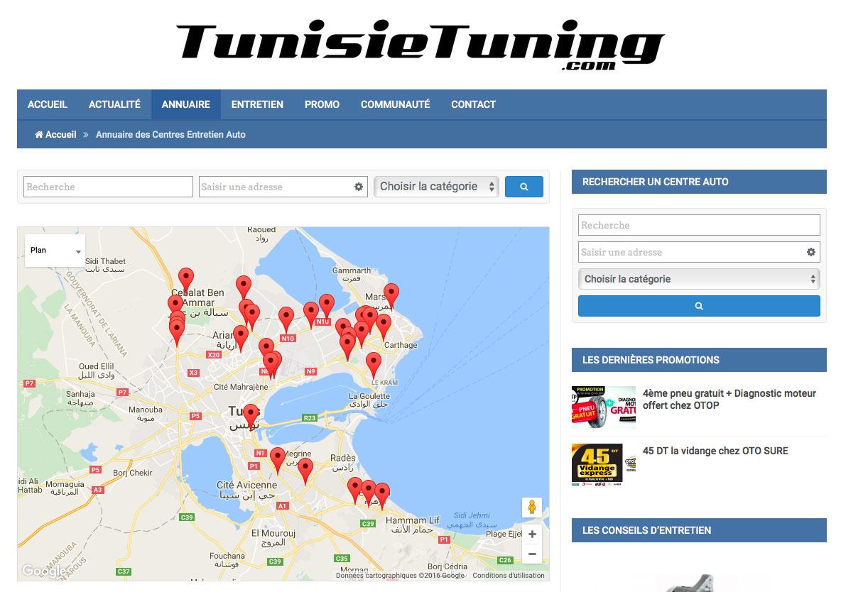 TunisieTuning le site dédié à l'entretien auto en Tunisie