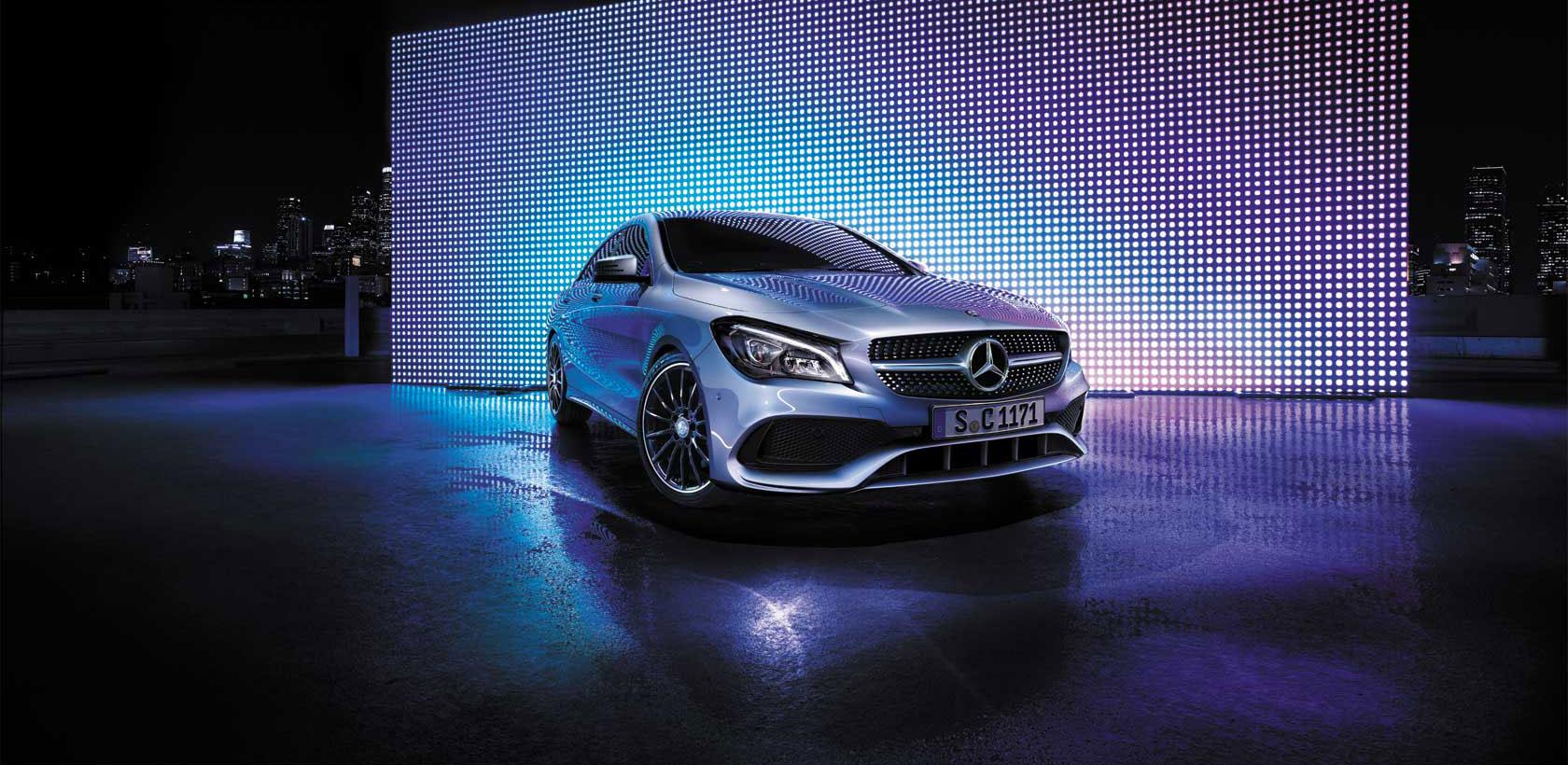 La Mercedes-Benz CLA restylée chez Le Moteur