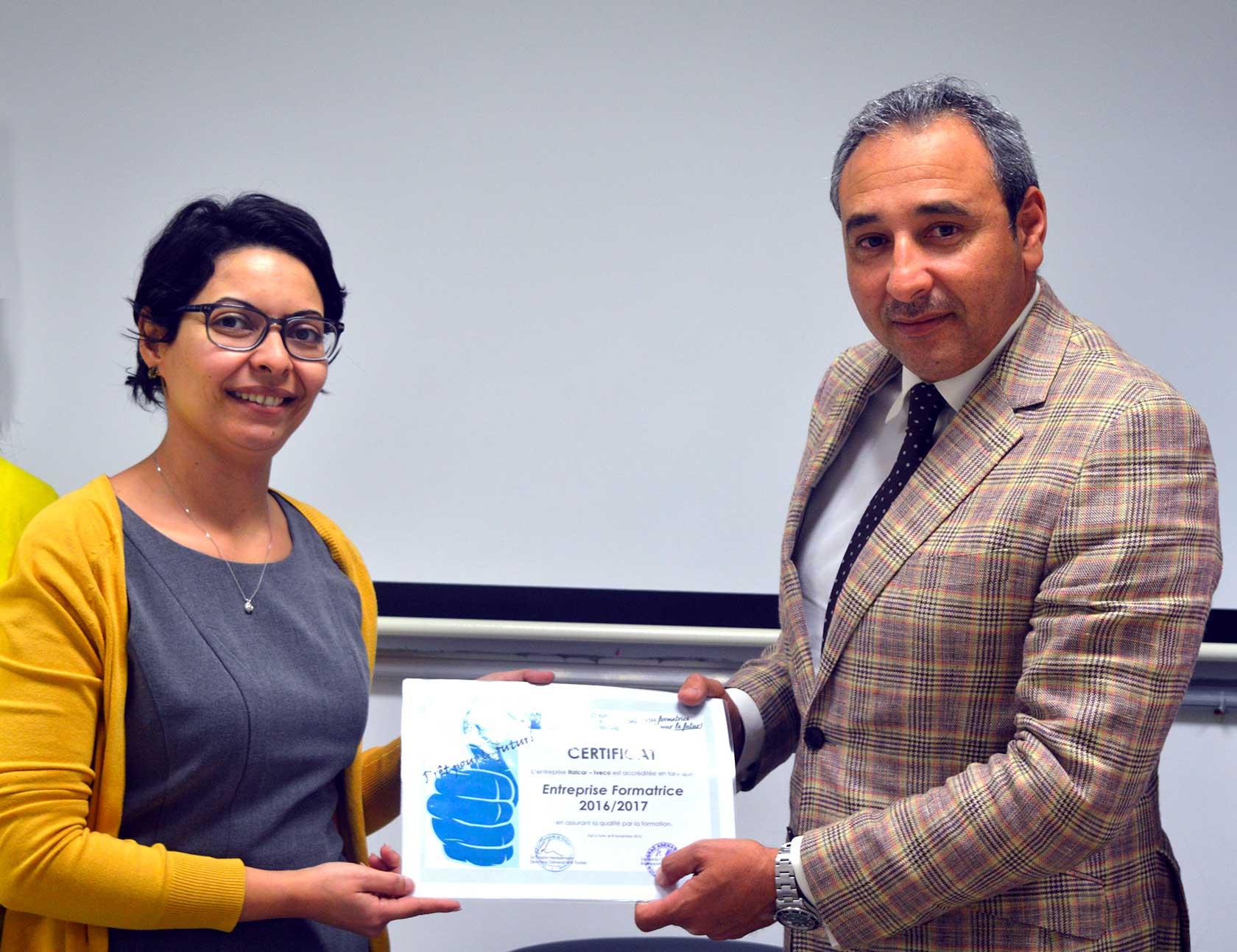Italcar certifiée entreprise-formatrice par l'AHK