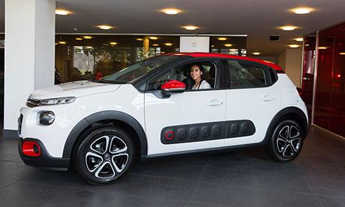 Citroën Tunisie offre une Nouvelle C3 à Ines Boubakri