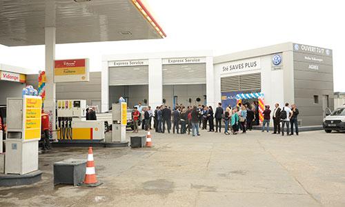 Premier atelier Volkswagen Express Service en partenariat avec Shell