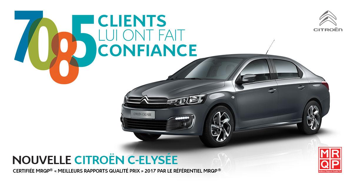 Citroën C-Elysée dépasse les 7000 ventes en Tunisie