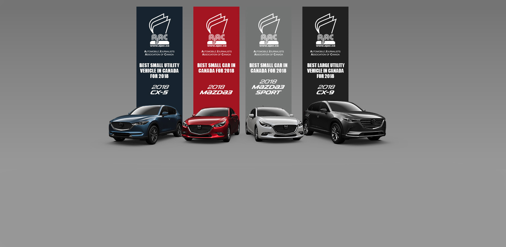 3 modèles Mazda élus meilleurs véhicules de leur segment