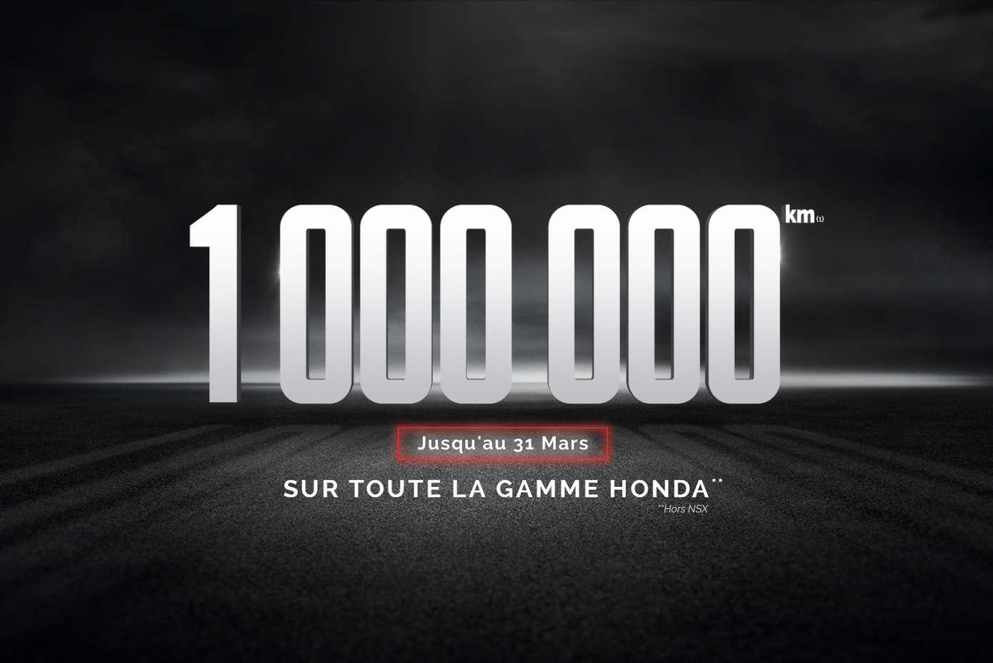 Honda France relance la garantie d'un million de kilomètres