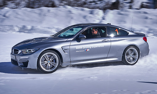 Session de Drift sur neige en BMW M4 !