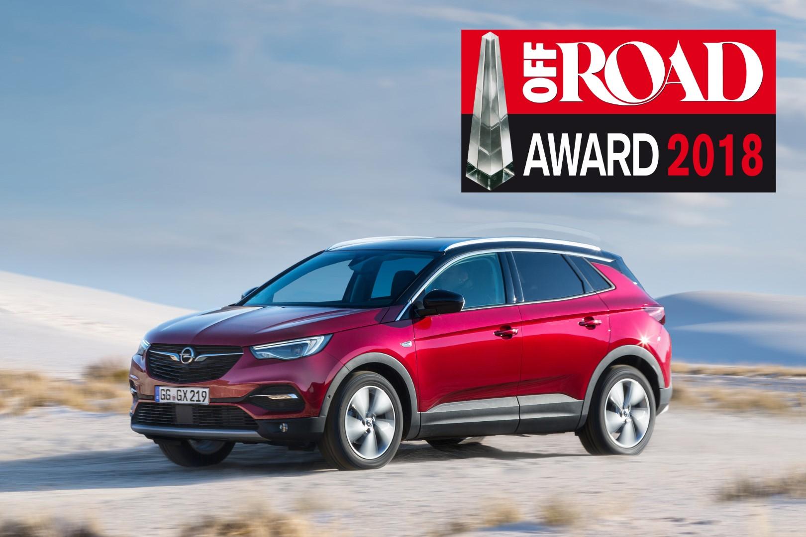 L'Opel Grandland X remporte le prix Off Road