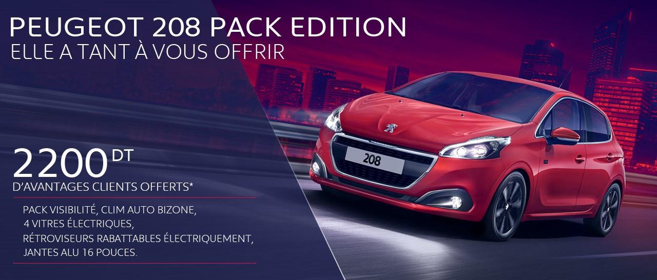 Série spéciale Peugeot 208 Pack Edition !