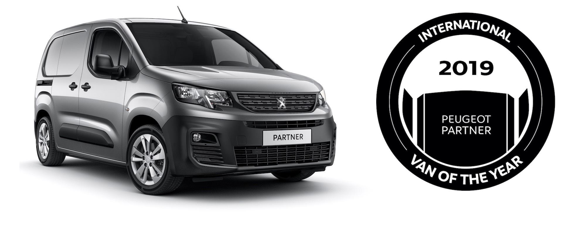 Le nouveau Peugeot Partner élu Van de l'année