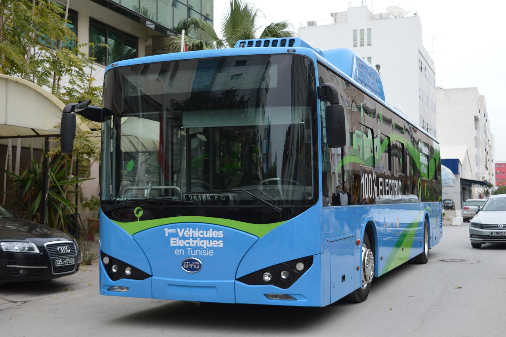 Le premier BUS 100% électrique testé en Tunisie