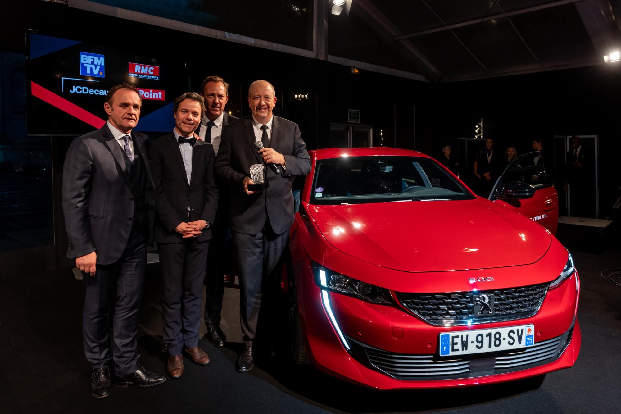 La Peugeot 508 élue plus belle voiture de l'année 2018