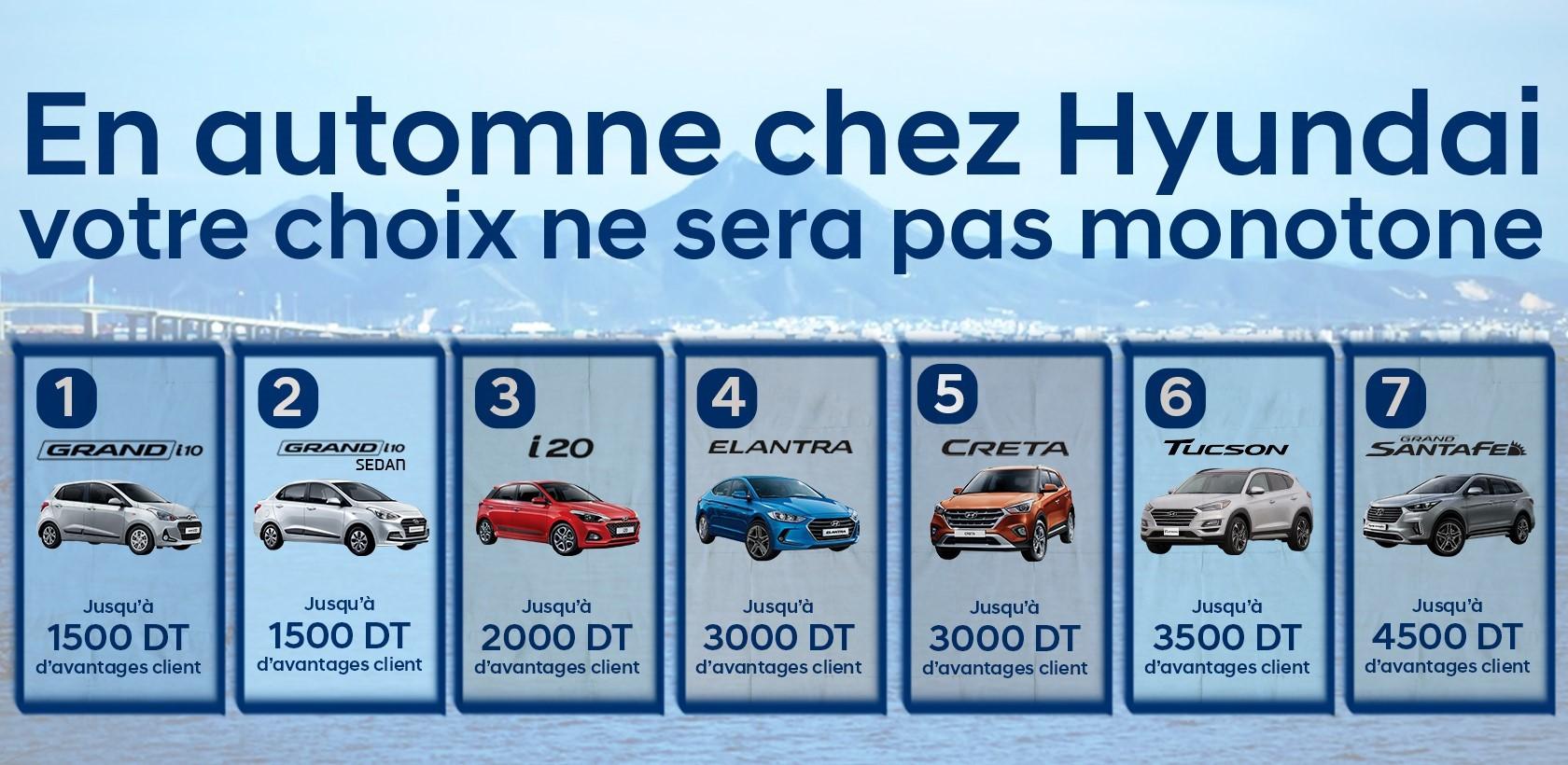Des promos chez Hyundai Tunisie pour l'Automne