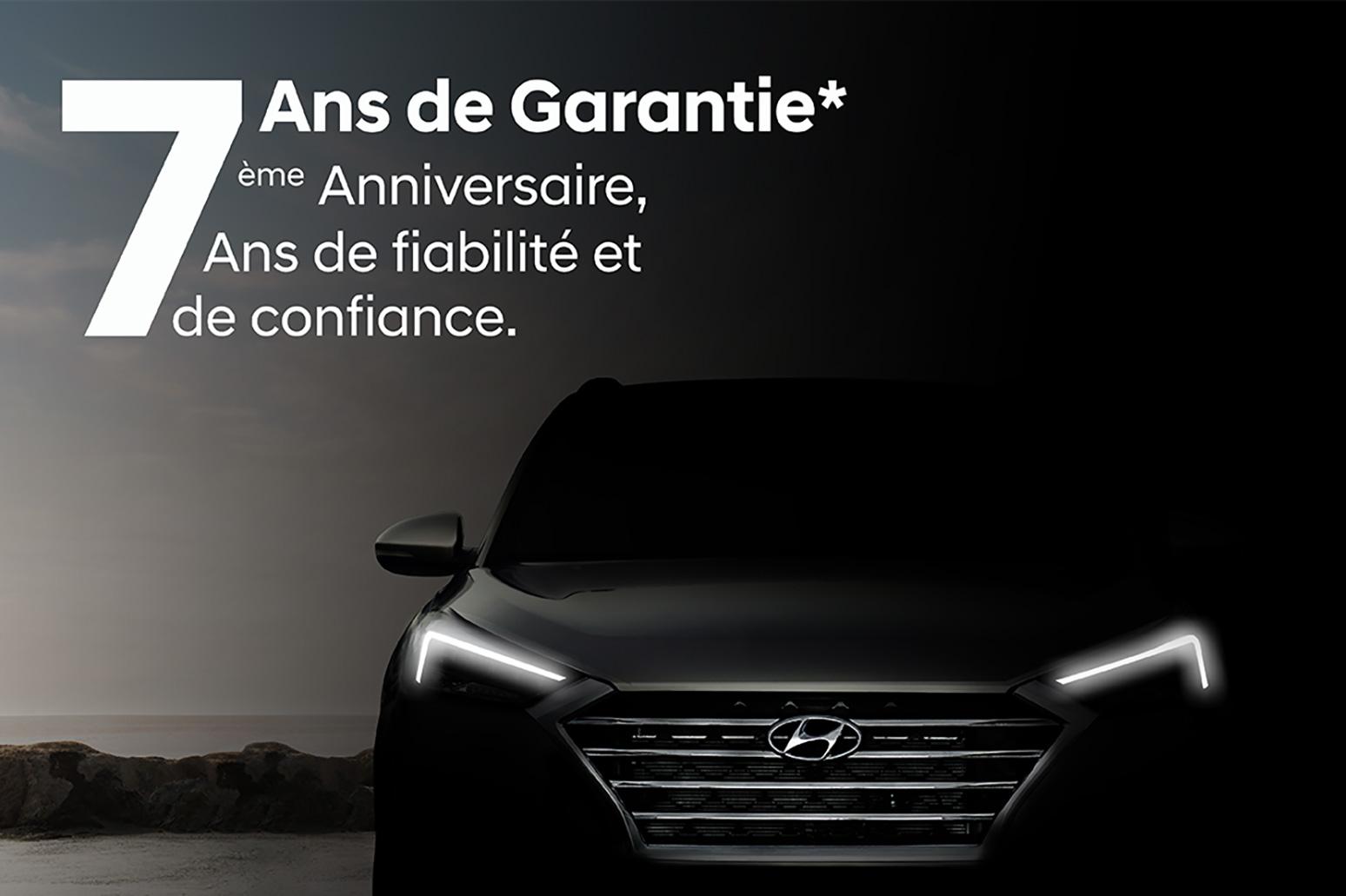 Hyundai offre une garantie de 7 ans