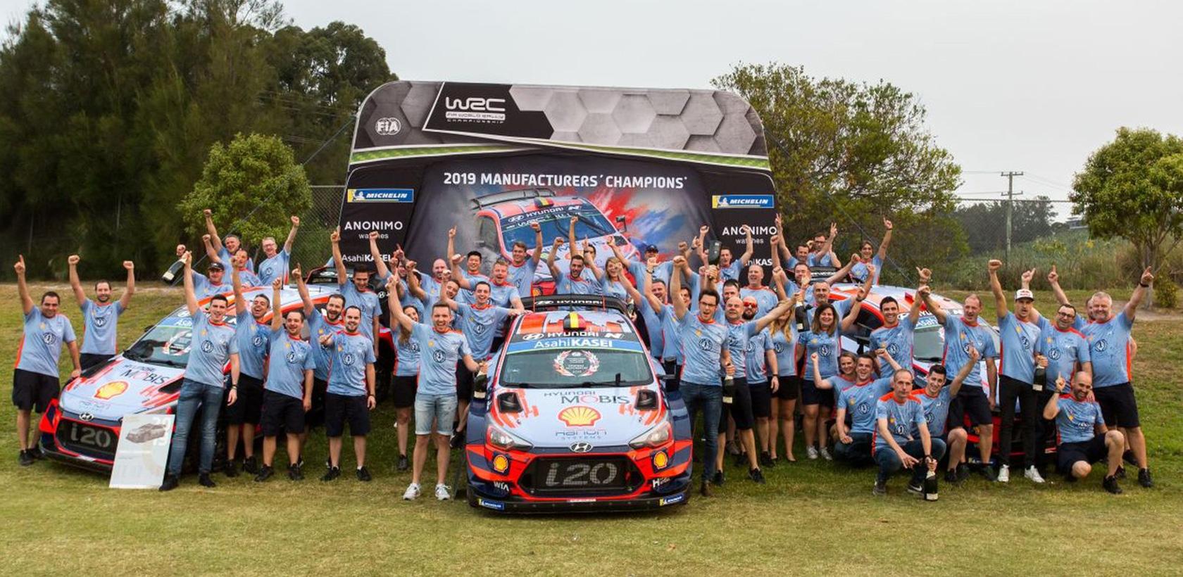 Hyundai remporte son premier titre WRC