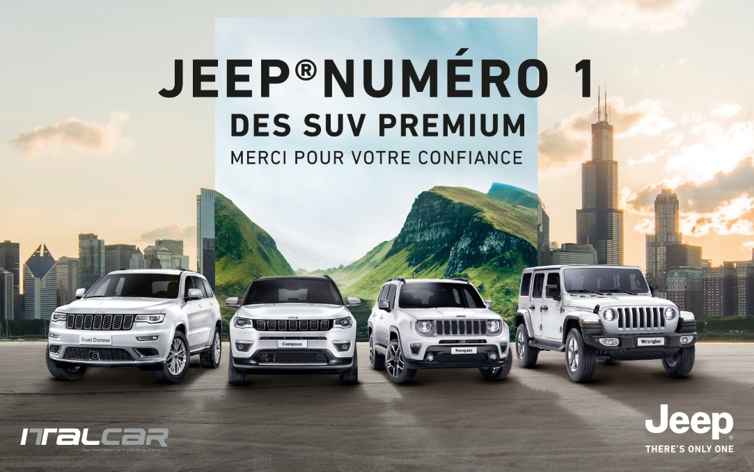 Jeep leader du segment SUV premium en Janvier