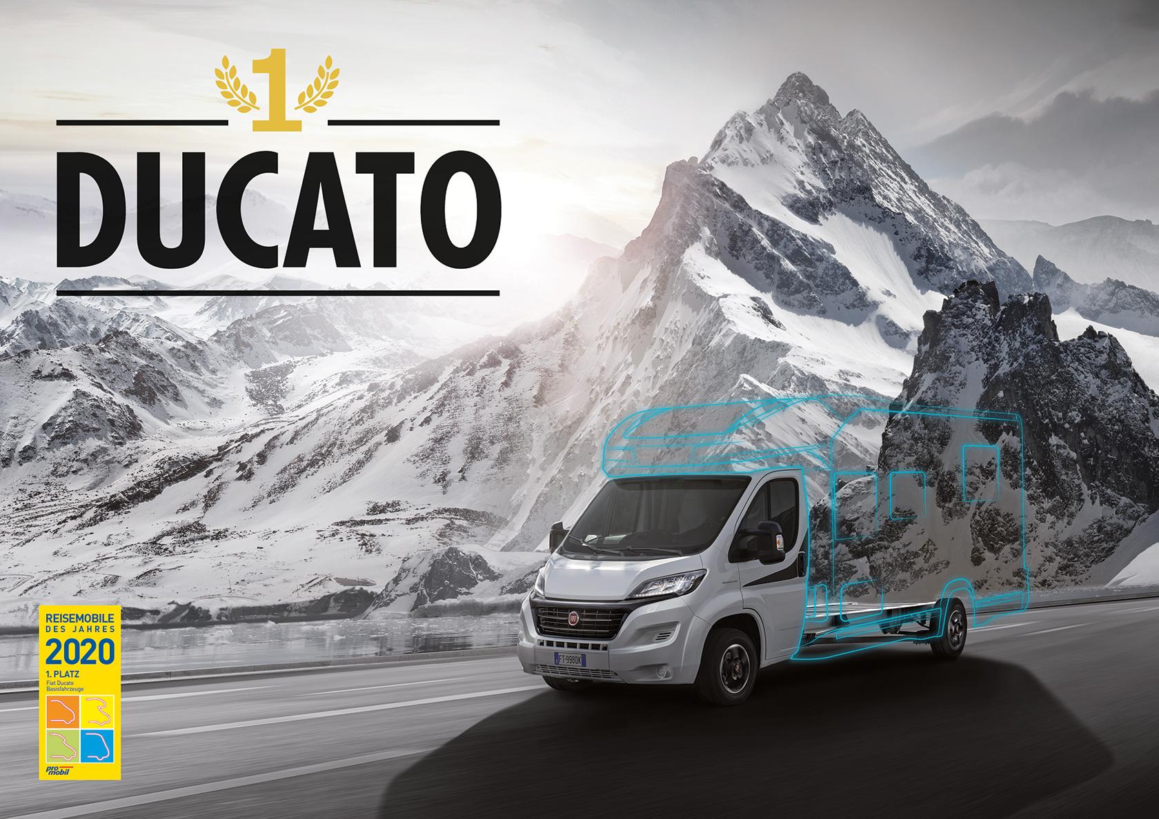 Le Fiat Ducato 2020 élu meilleure base pour camping-car