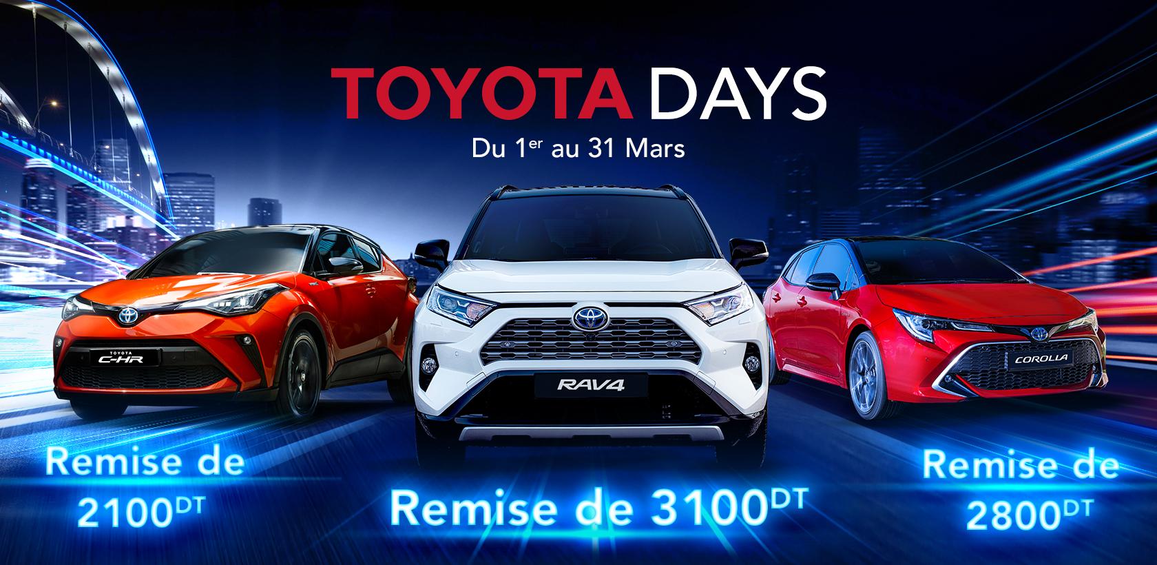 Toyota Days - Des remises sur toute la gamme jusqu'au 31 Mars