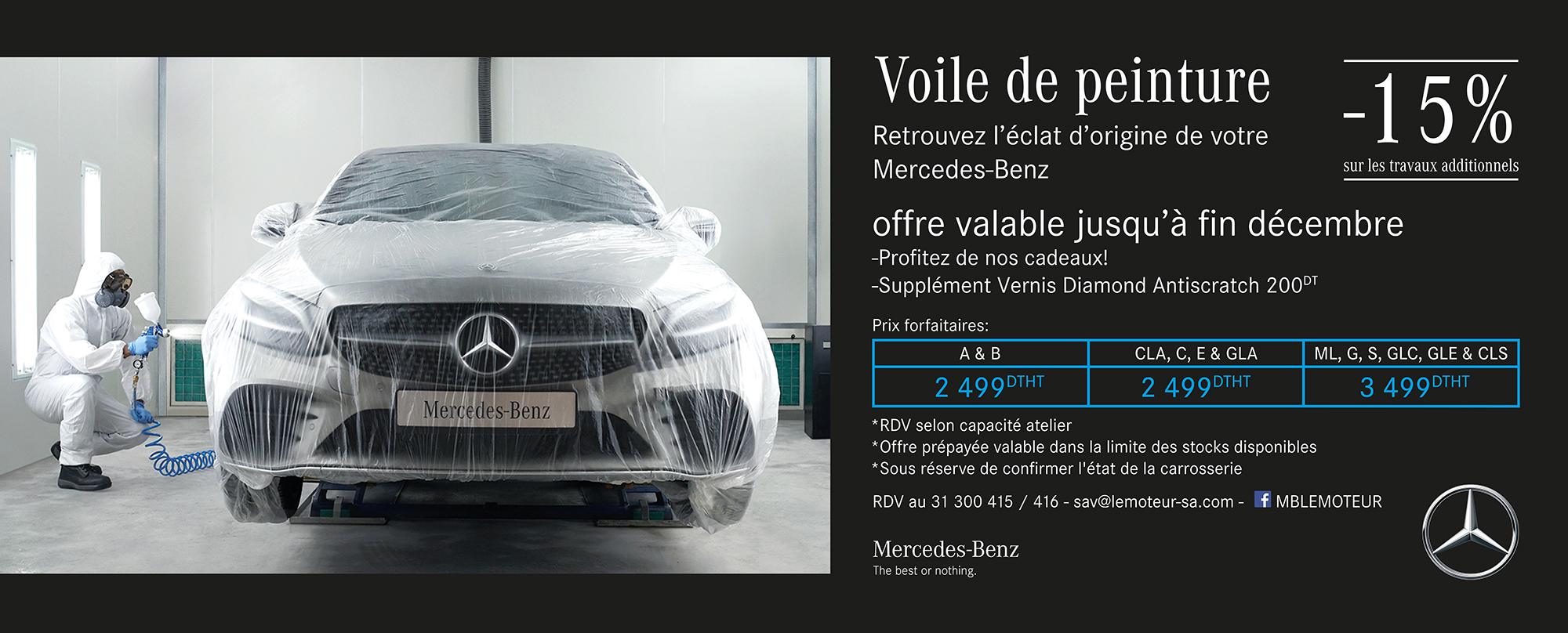 Offre Voile de peinture, Retrouvez l'éclat d'origine de votre Mercedes-Benz