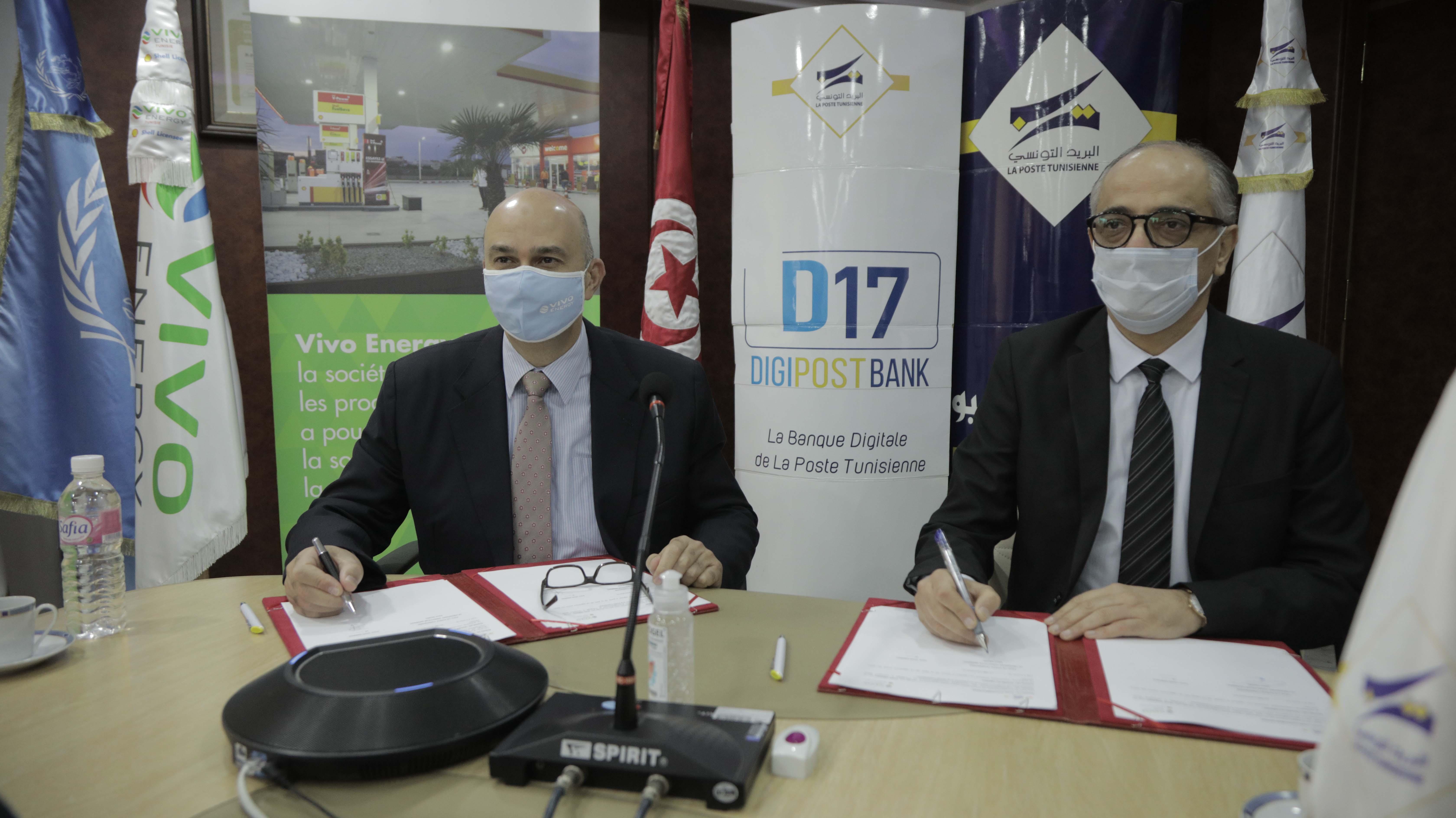La Poste Tunisienne et Vivo Energy Tunisie signent un partenariat stratégique