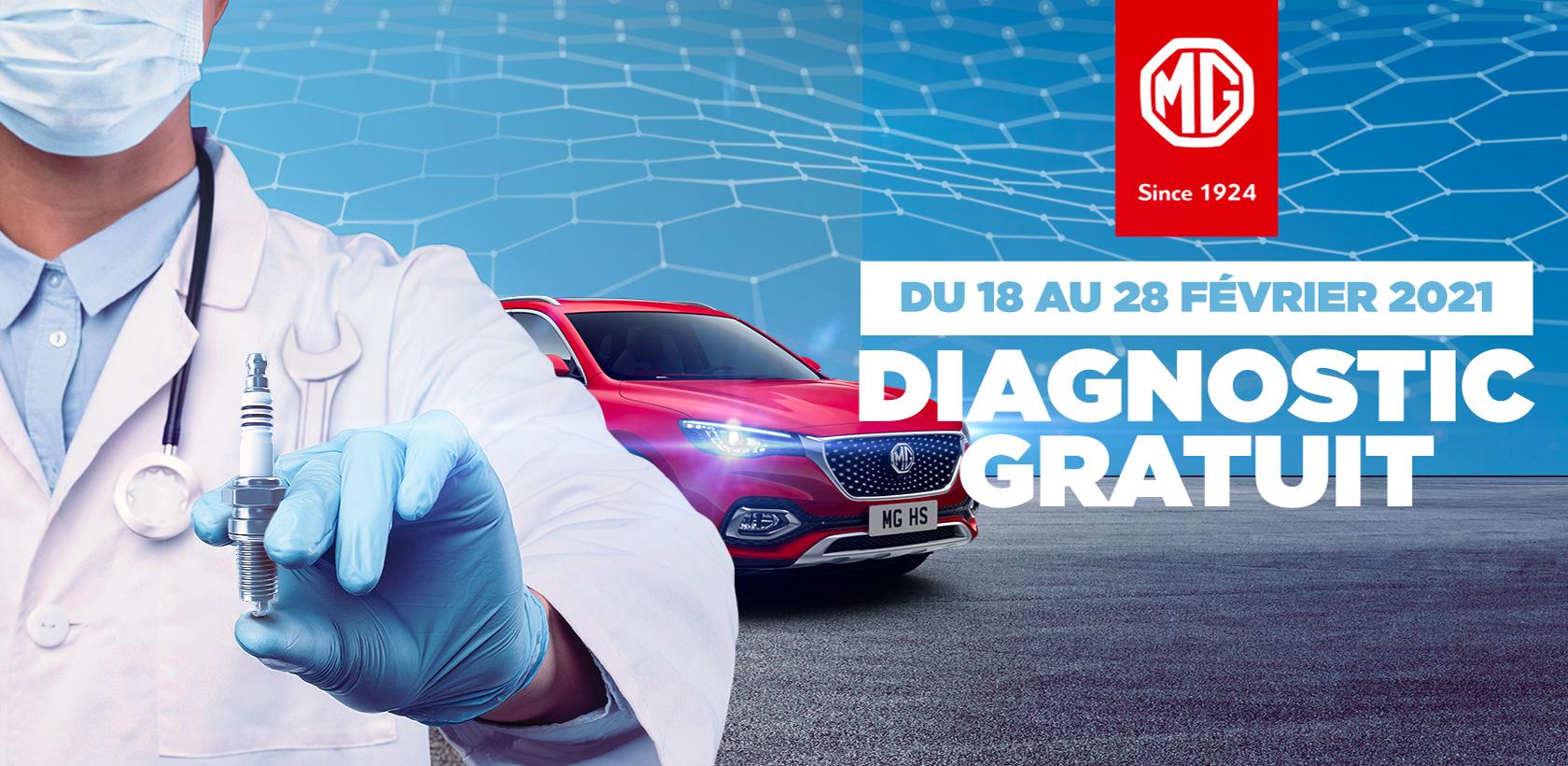 Diagnostic gratuit chez MG Motors