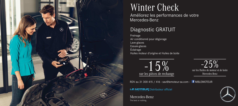 Offre spéciale Winter Check chez Mercedes-Benz Tunisie Le Moteur