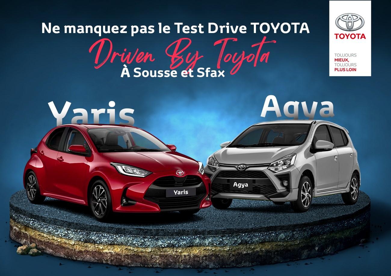 Driven By Toyota, Essayez les Toyota Agya et Yaris à Sousse et à Sfax