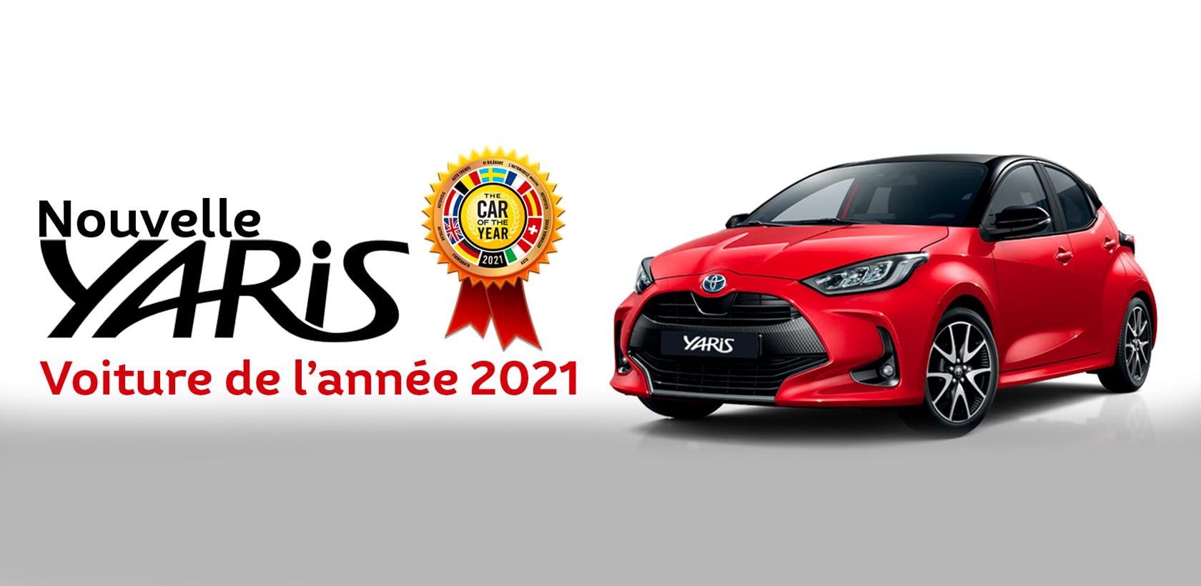 La Toyota YARIS élue voiture de l'année 2021 en Europe