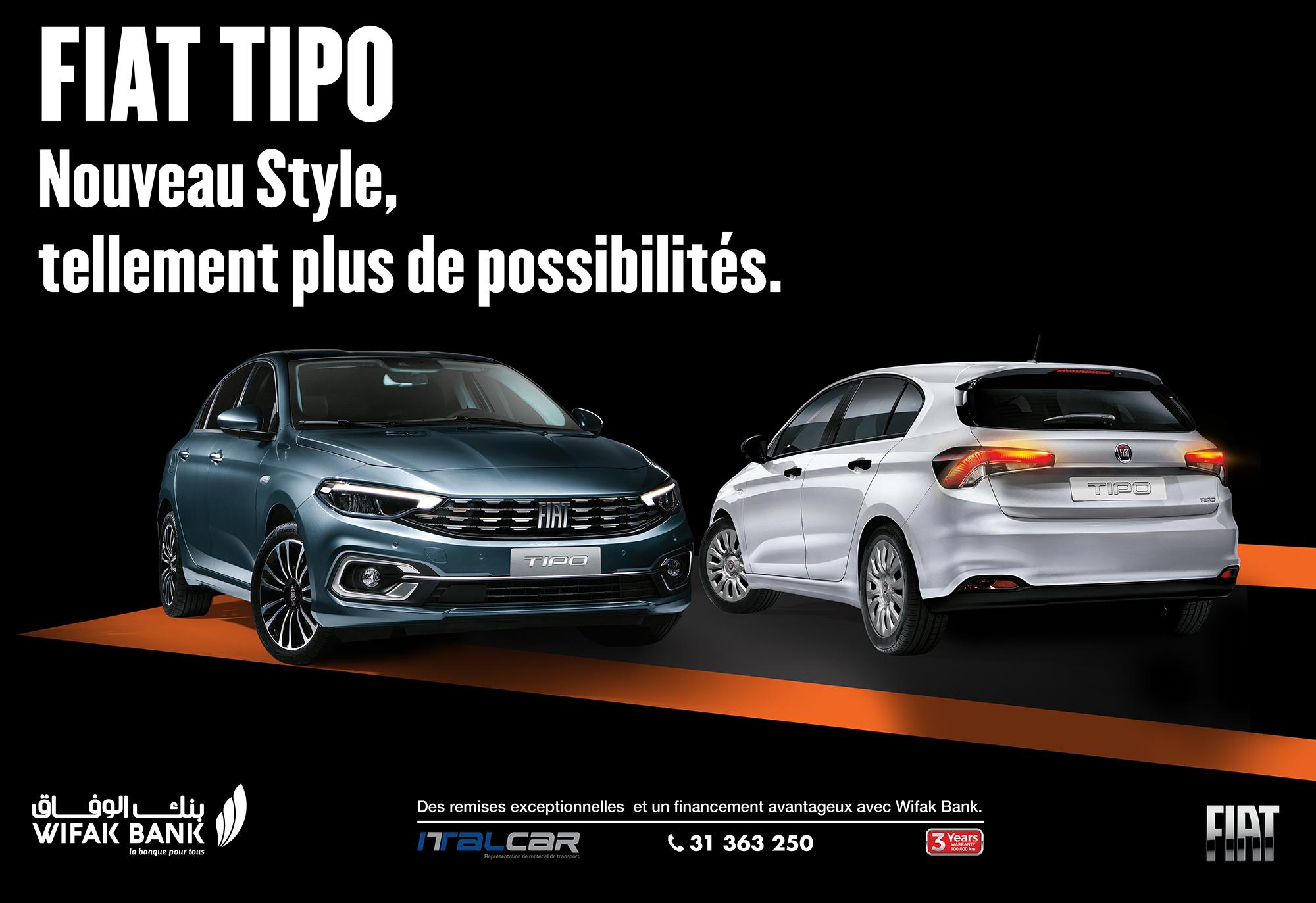 Nouveau Fiat Tipo chez Italcar